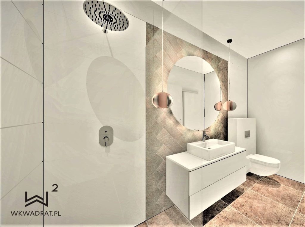Architekt Wnetrz Ciechocinek - Łazienka w obiekcie Oasis