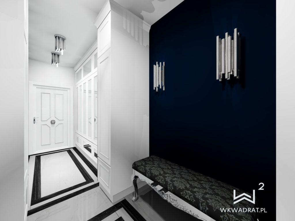 PROJEKTOWANIE I ARANŻACJA WNĘTRZ - ARCHITEKT WNĘTRZ CIECHOCINEK projekt-aranzacji-hol-niebieski-apartamentu-2-projektowanie-wnętrz