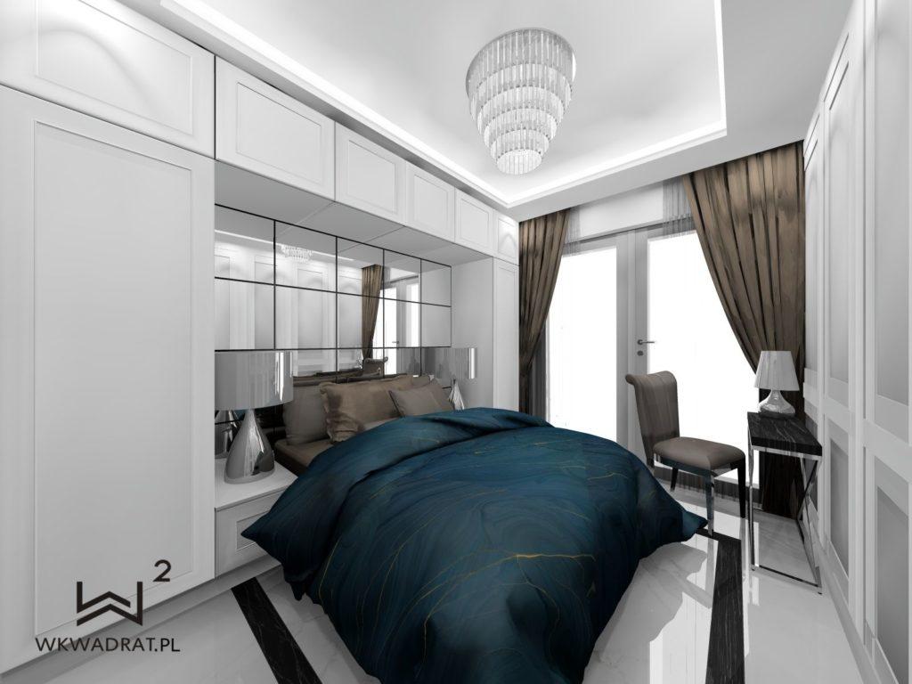PROJEKTOWANIE I ARANŻACJA WNĘTRZ - ARCHITEKT WNĘTRZ CIECHOCINEK -projekt-pokoju-hotelowego-glamour-aranzacja-wnetrz-hoteli-pracownia