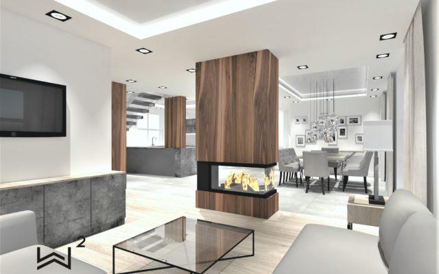 PROJEKTOWANIE I ARANŻACJA WNĘTRZ - ARCHITEKT WNĘTRZ CIECHOCINEK projekt-salonu-dom-jednorodzinny-projektowanie-wnętrz-pracownia